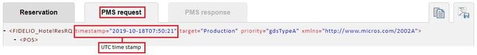PMS Request XML