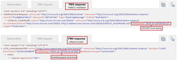 PMS Response XML